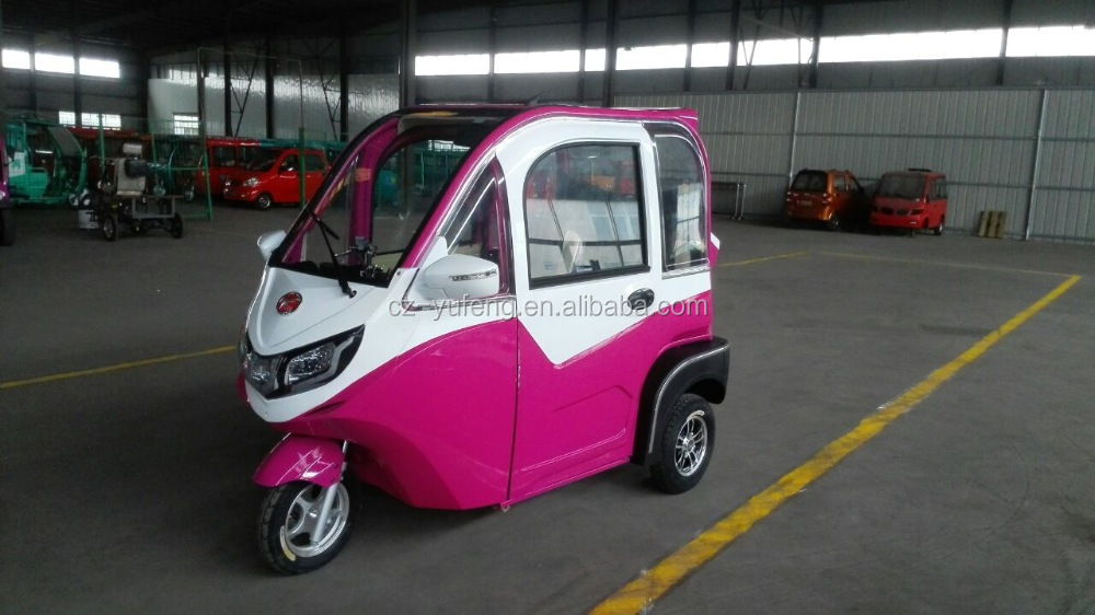 NEWEST closed cabin passenger energy three wheel electric tricycle