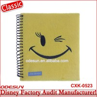 Disney Universal NBCU FAMA BSCI GSV Carrefour Factory Audit Manufacturer Hard Cover Magnetic Leather Notebook