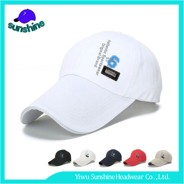 High quality Sandwich long brim golf headgear guangzhou baseball cap factory