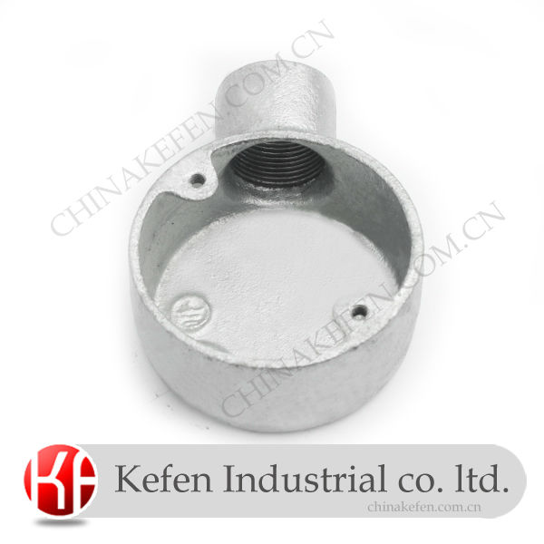 BS4568 ENBS61386 casting malleable iron pipe fittings/ 20mm galvanized terminal one-way box of electrical conduit fittings