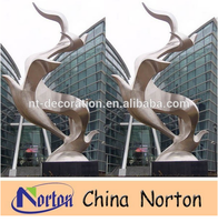 Famous outdoor metal art stainless steel sculpture for sale NTS-529A