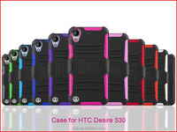 china manufacturer wholesale custom cheap pc silicone heavy duty hybrid armor kickstand phone case for htc Desire 530