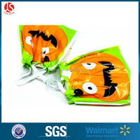 "Custom Plastic Drawstring 5""x11.5"" Small Organza Gift Candy Bag Halloween Party Favors"