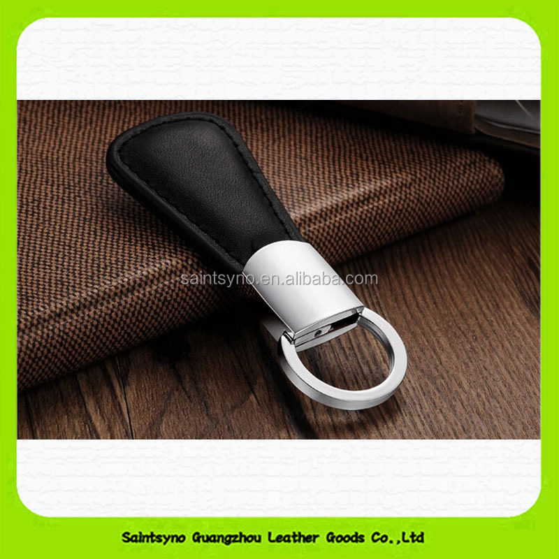 15131 factory direct selling Customized metal & leather key chain for man & woman with excellent workmanship