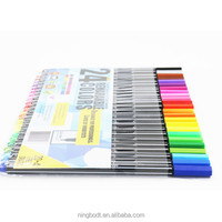 Perfectly matched color fine point pens with 24 colors