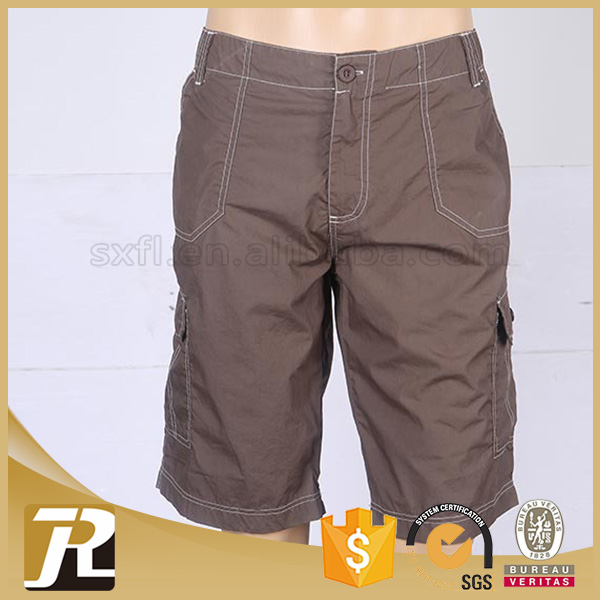 Factory price Solid discount brown mens short pants
