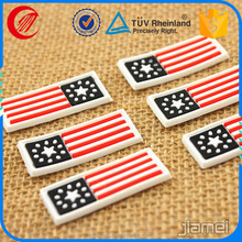2017 High quality Stars rectangle soft feeling pvc label silicone rubber trademark