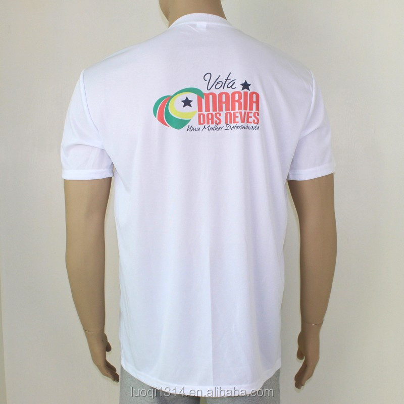 Bulk White Plain Mens 140gsm Short Sleeve Election T Shirts With Custom Printing
