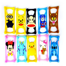 2016 Hot Creative Mobile Phone Case High Quality Silicone Universal Cartoon Silicone Bumper Cell Phone Case