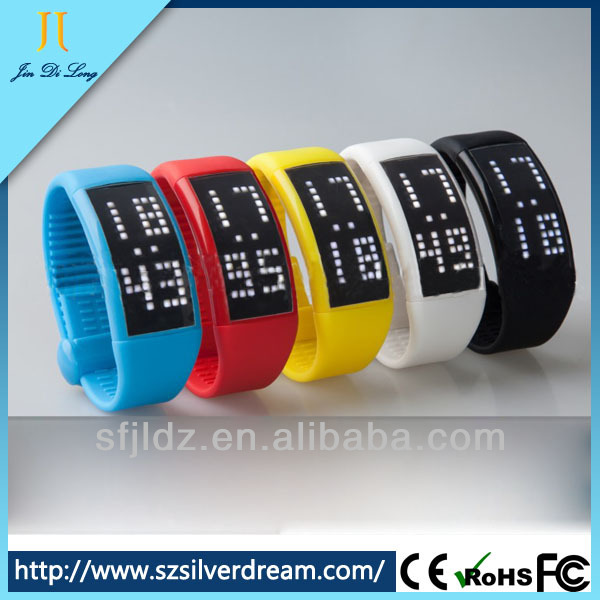 Silicone Sports Colorful Unisex fashion ion sport watch new product