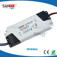 Sanpu CE ROHS OEM constant current 100-240V 19W 320ma led driver for led downlight