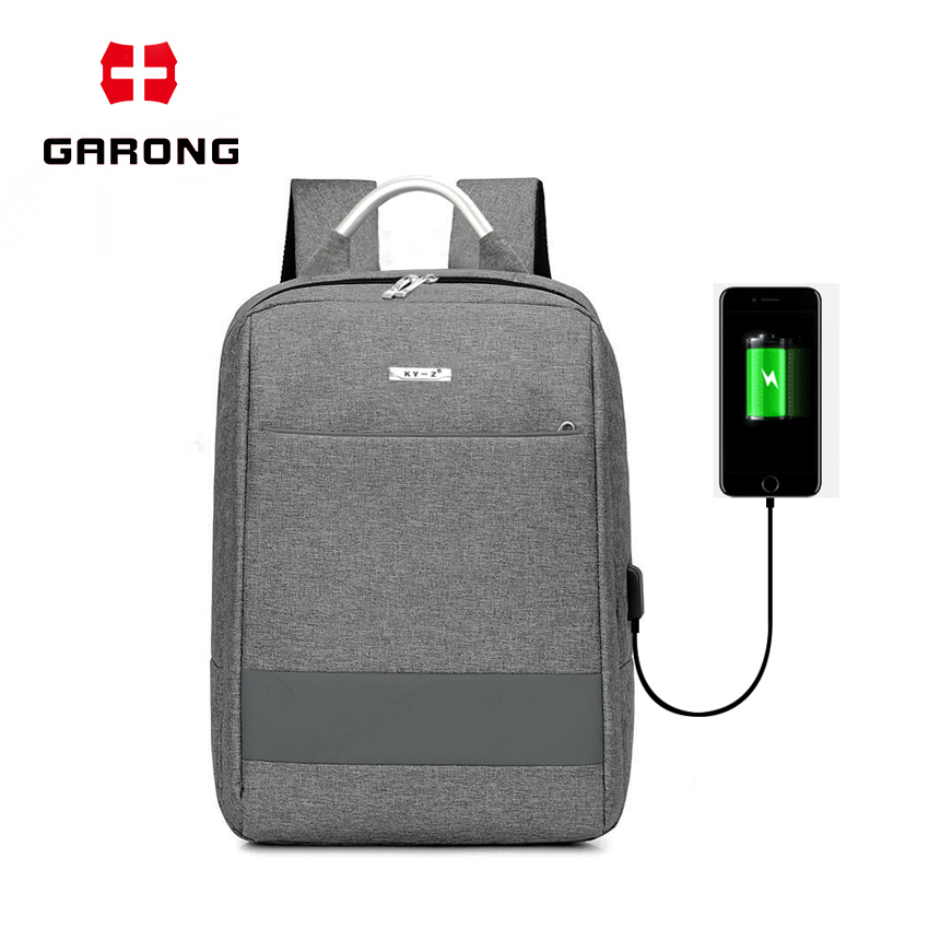 New Casual Anti Theft waterproof Sports charging backpack with usb