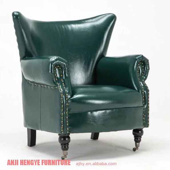 Golden quality modern American leather armchair
