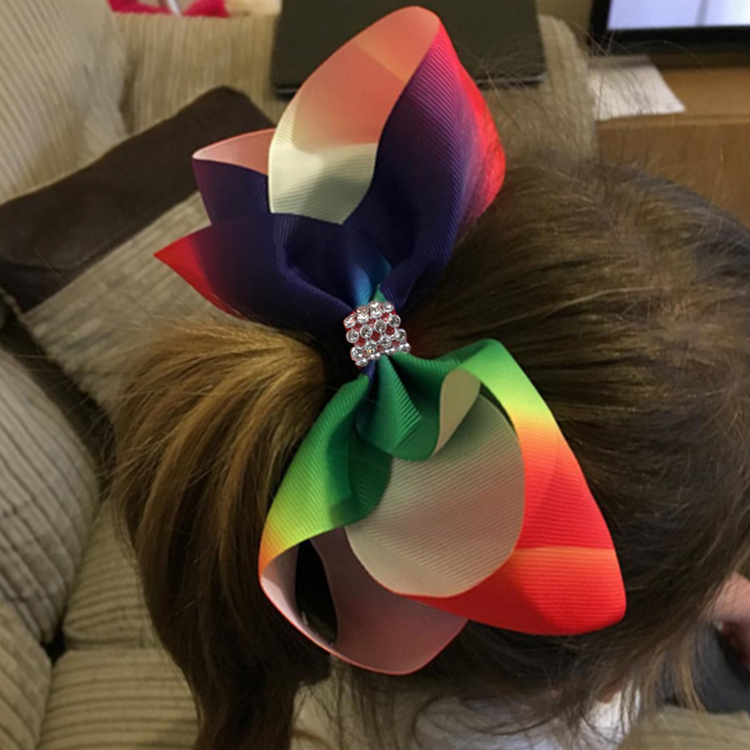 Wholesale Best Price Customized Decorative Colorful Crystal Kids Hair Clip