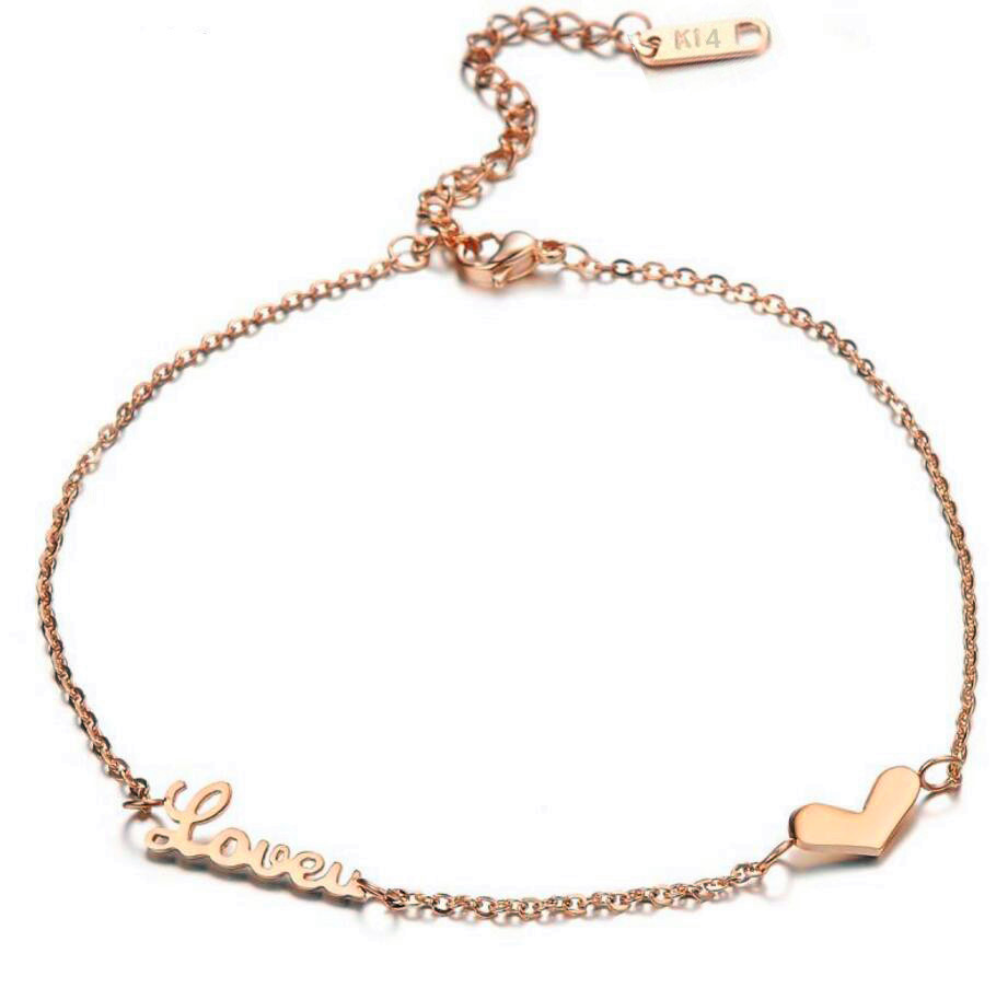 bracelet color u with love anklet fashion summer new gold look jewelry leg ankle tube bracelets on chain simple lust products