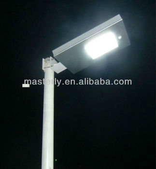 Solar led street light--PIR sensor,long working time All in one solar street light