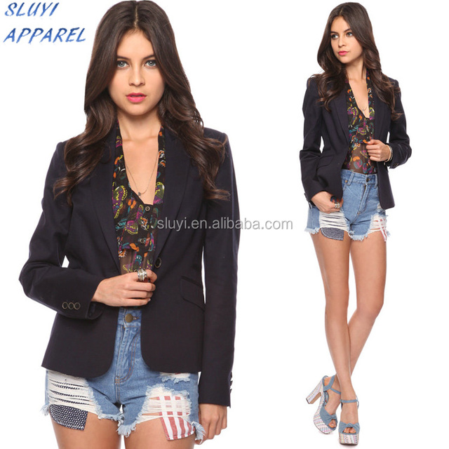 Black Tall Women Business Fashion Jackets camouflage printed blazer jacket with pocket One Button Jackets for ladies