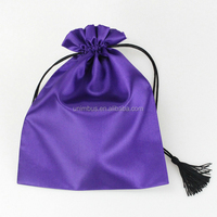 6x12cmbest sale fashional drawstring packaging satin bag
