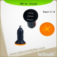 Power Pin Dual USB Car Charger For Samsung Galaxy