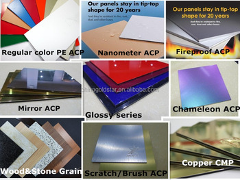 construction building material alu composite panel