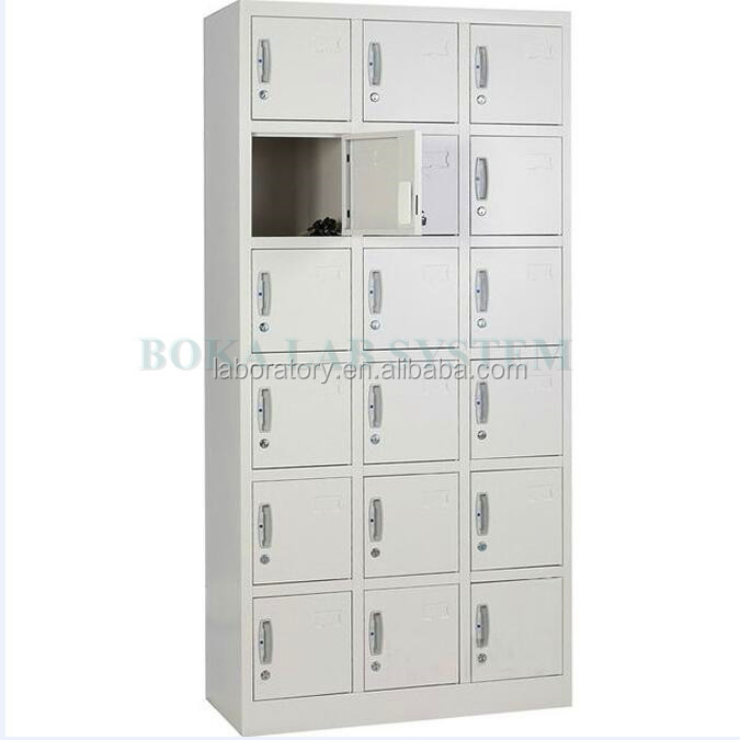 Modern Designs 18 Doors Steel Staff Locker Cabinet For Laboratory,School,Hospital,Office