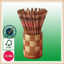 Healthy nature round wooden chopsticks barrel wholesale