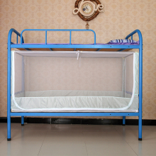 Zipper Square Types of Blue Bed Canopy Bunk Bed Mosquito Net