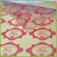 Digital printing logo print transparent clear sticker for advertising