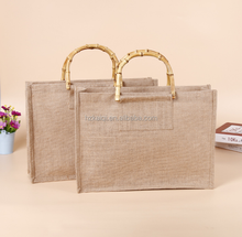 Hot sale customized eco friendly jute bag carry shopping bag