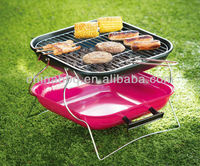 "14"" new design foldable squire simple charcoal bbq grill"
