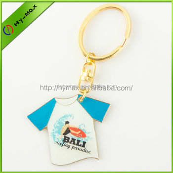 Customized T-shirt shape keychain
