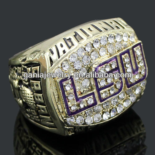 World Champion Rings, LSU Tigers 2003 L.S.U.Louisiana State University Tiger Championship Champions Ring for Mens