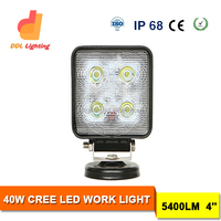 "40w 4x4 jeep light led off road 4"" search lights for ATV,SUV,Jeep,Hummer led work light"