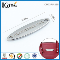Sewing Style Custom Metal Logo Plate For Handbags