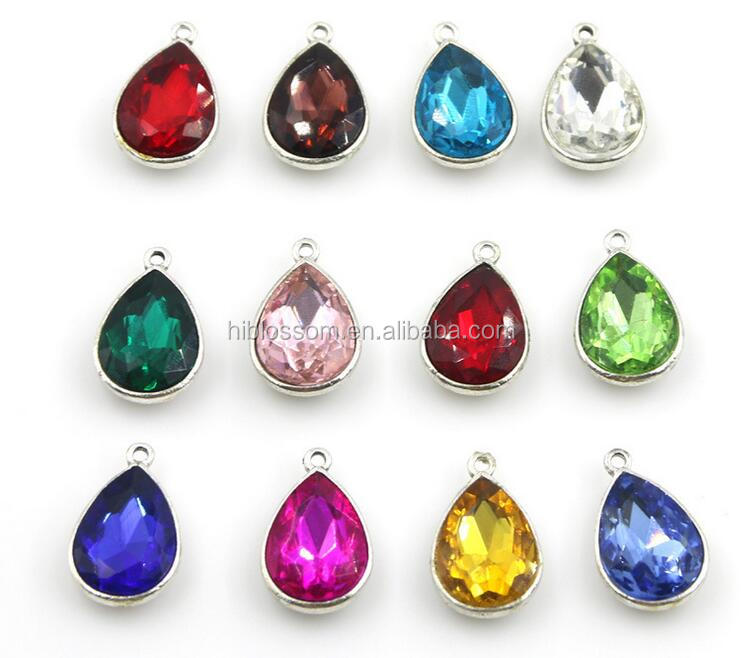 Imitation Zircon Glass Faceted Bezel Framed Connector Charm For DIY Necklace Bracelet