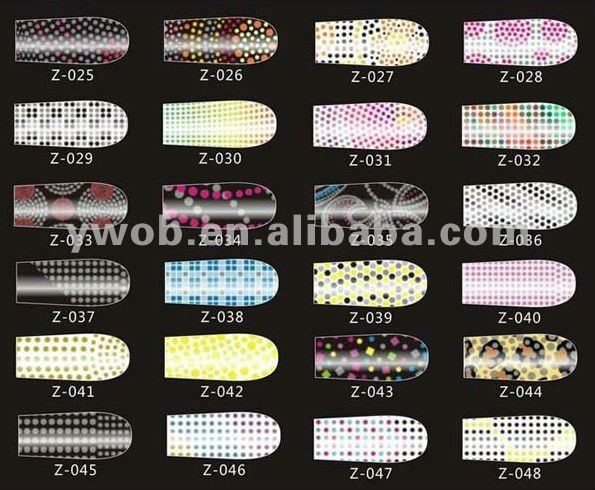 2012 Fashionable beautiful nail polish patch