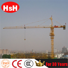 China Famous Brand HSH top grade travel self-elevating qtz80 tower crane qtz6010-6T tower crane on hot sale