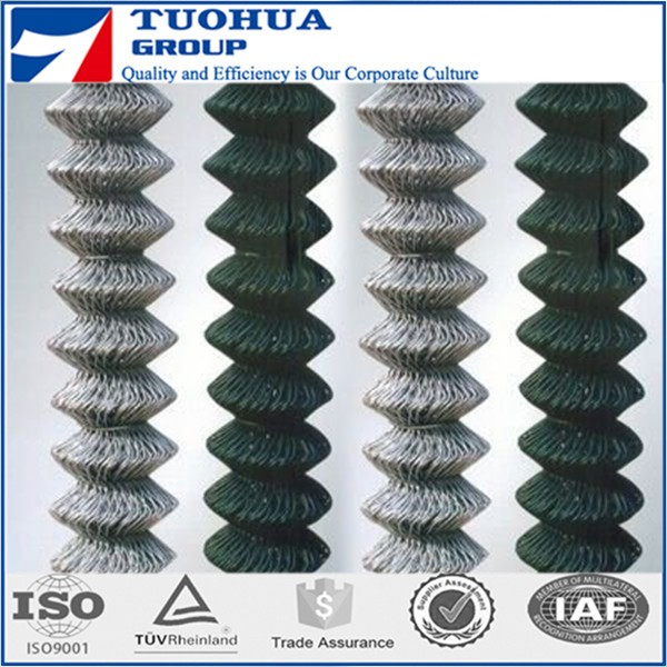 8ft Height Galvanizing Chain Link Fabric Mesh in Heavy Galvanizing