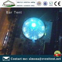 china prefab houses geo dome event tent led dome for music bar