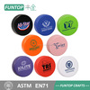 1 c logo print black hockey puck pu foam stress ball