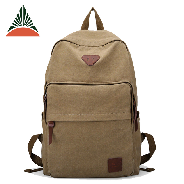 New Stylish Mens Travel Cheap High Quality Canvas Backpack For Young