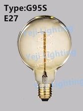 Clear Glass E27/E26 Base Retro Vintage Edison Light Bulb Clear Glass Antique Edison bulb Carbon filament light bulbs G95
