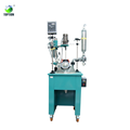 China Lab Supplier 50l Heating Single Layer Glass Reactor With Water Bath