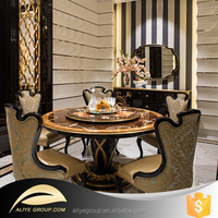 AT06-antique style luxury hand carved solid wood dining room furniture from china