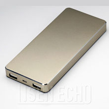 Lithium polymer battery high capacity golden power bank 12000mAh