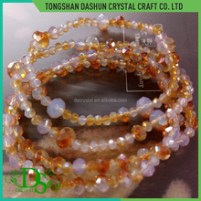 Fashion simple handmade faceted glass beads bracelets for women beads bracelet mexican