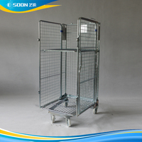 Powder Coating collapsible wire mesh trolley