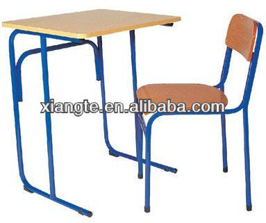 New hit!!! metal frames single school desk chair/school desk and chair