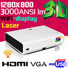 LASER Hybrid 20000 hours 800p HD mini portable projector media player/laser dlp projector
