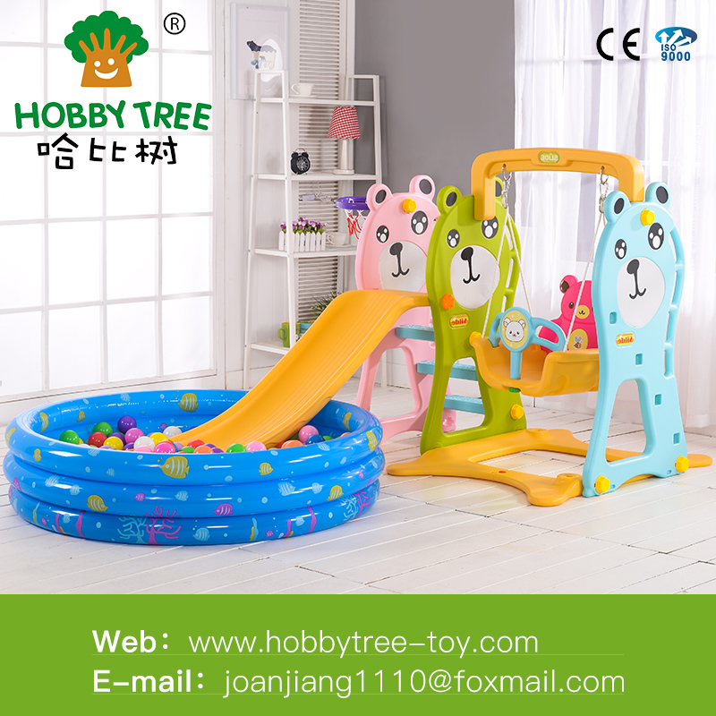 New Children outdoor indoor slide and swing set with ball pool